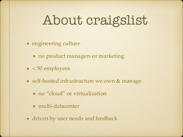 Realtime Search Infrastructure at Craigslist (OpenWest 2014) Slide 3