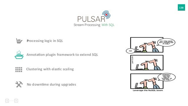 138 Annota`on  plugin  framework  to  extend  SQL Stream Processing: With SQL Processing  logic  in  SQL %...