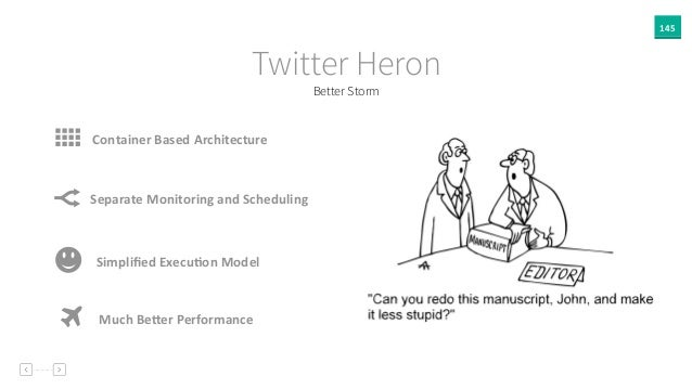 145 Better Storm Twitter Heron Container  Based  Architecture Separate  Monitoring  and  Scheduling - Simplified...