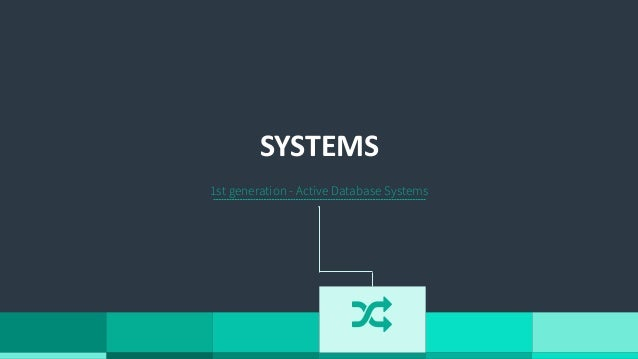 """1st generation - Active Database Systems SYSTEMS """""""