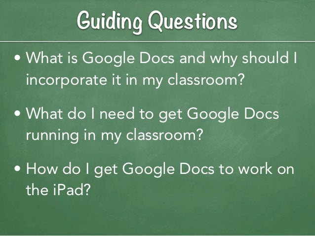 how to get google docs on ipad