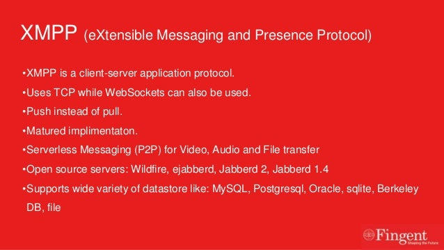 Extensible Messaging And Presence Protocol : Realtime communication in mobile