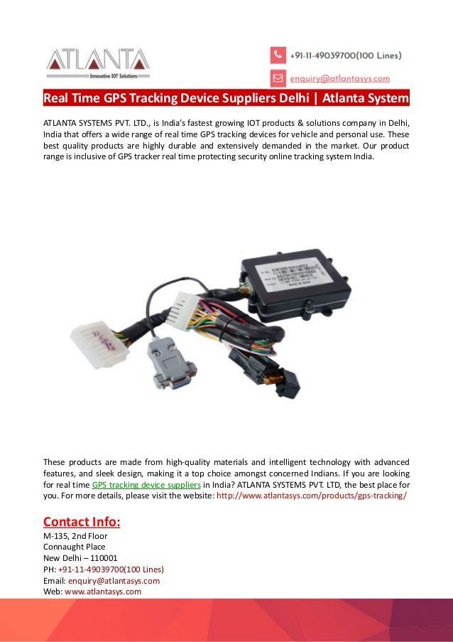 Real Time GPS Tracking Device Suppliers Delhi-Atlanta System