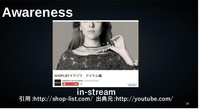 30 Awareness in-stream 引用 :http://shop-list.com/ 出典元 :http://youtube.com/