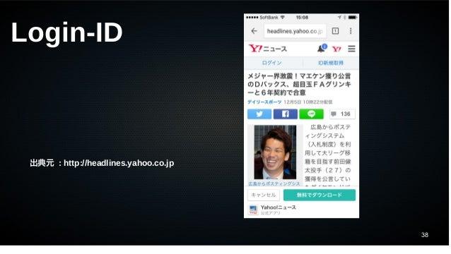 38 出典元 : http://headlines.yahoo.co.jp Login-ID