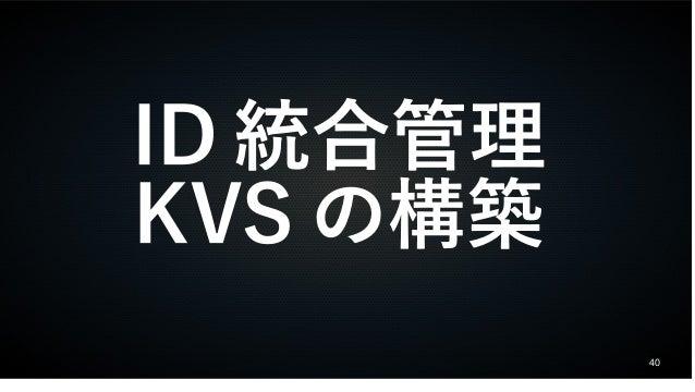 40 ID 統合管理 KVS の構築
