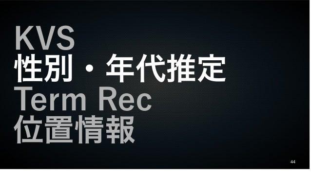 44 KVS 性別・年代推定 Term Rec 位置情報