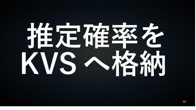 57 推定確率を KVS へ格納