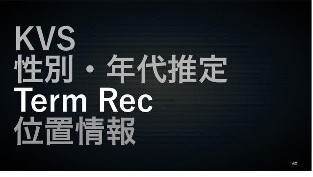 60 KVS 性別・年代推定 Term Rec 位置情報