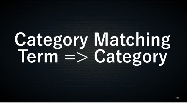 69 Category Matching Term => Category
