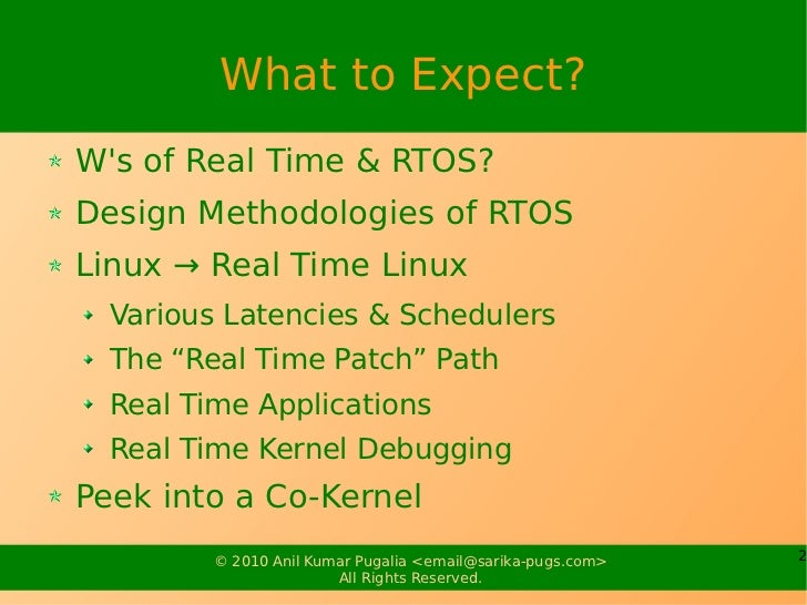Real Time Systems Slide 2
