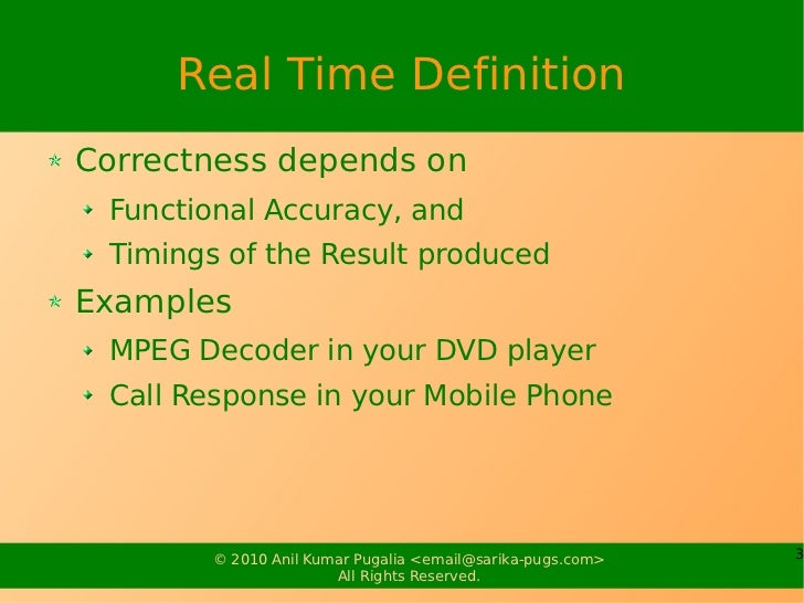 Real Time Systems Slide 3