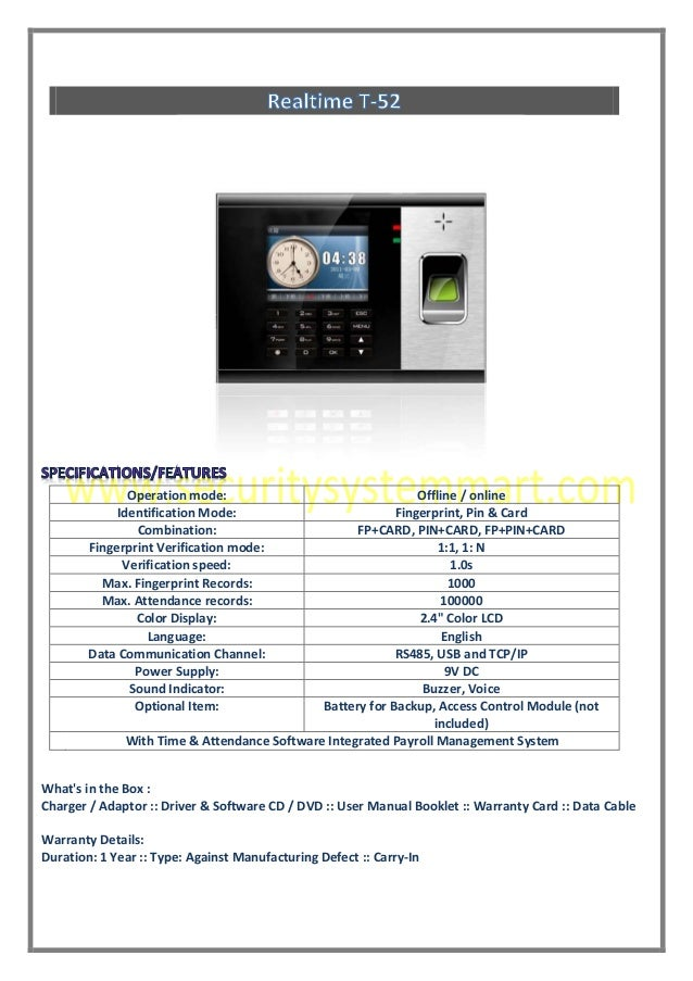 REAL TIME T52 PDF DOWNLOAD