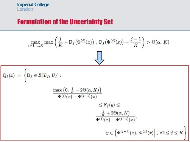Formulation of the Uncertainty Set