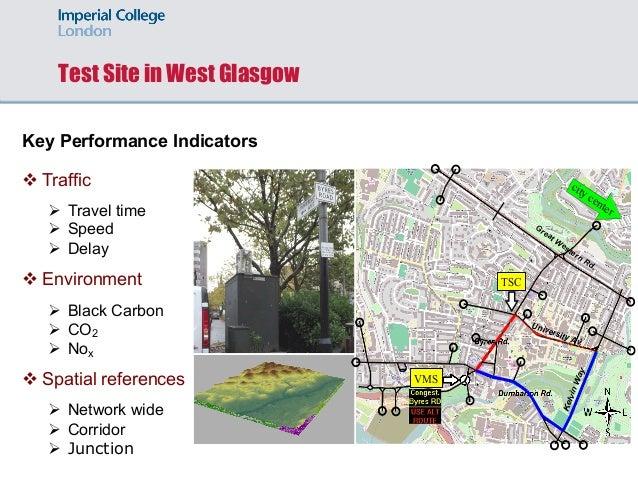 Test Site in West Glasgow Key Performance Indicators v Traffic Ø Travel time Ø Speed Ø Delay v Environment Ø Black Carbon ...