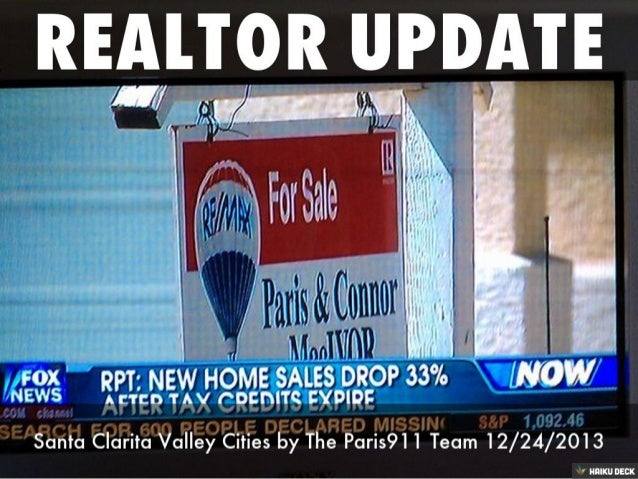 Santa Clarita real estate housing market update by Remax's Paris911 Team