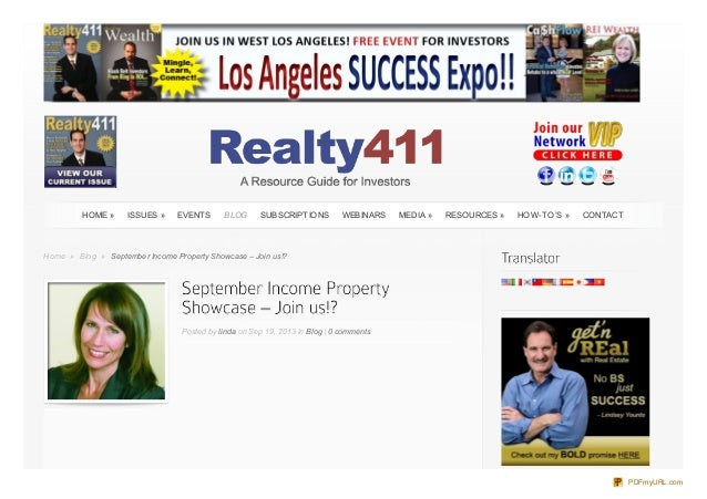 HomeHome »» BlogBlog »» September Income Property Showcase – Join us!?September Income Property Showcase – Join us!? Poste...