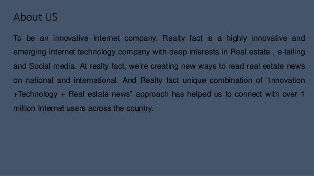 Realty fact business plan - Real estate branding Slide 2