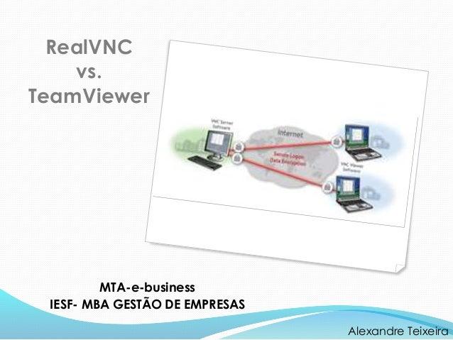 MTA-e-business IESF- MBA GESTÃO DE EMPRESAS Alexandre Teixeira RealVNC vs. TeamViewer