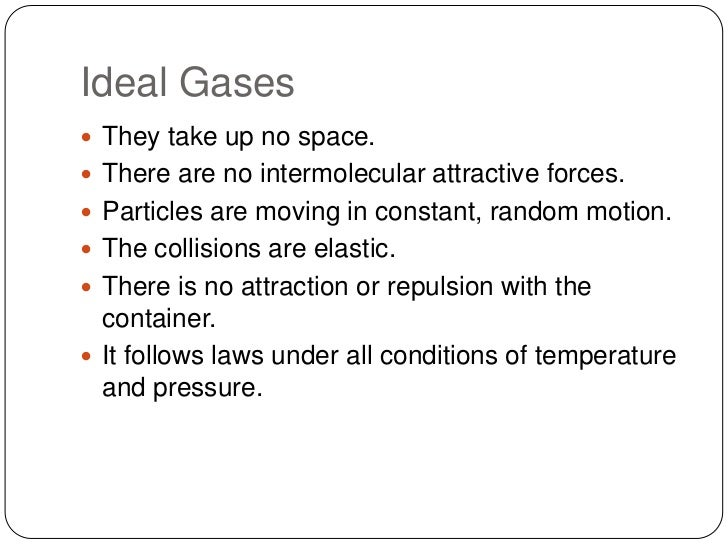 real gases vs ideal gases