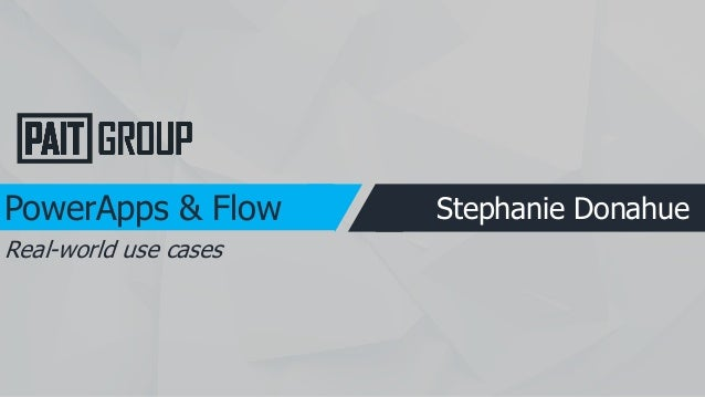 Real world Powerapps & Flow-njspug