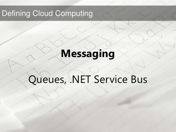 """""""What is Microsoft doing in Cloud Computing?""""<br />"""