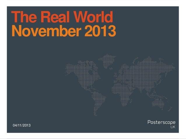 The Real World November 2013  04/11/2013