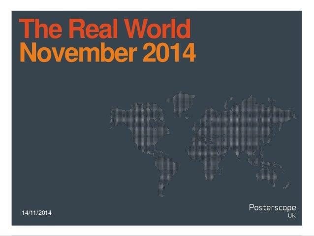 14/11/2014 The Real World November 2014