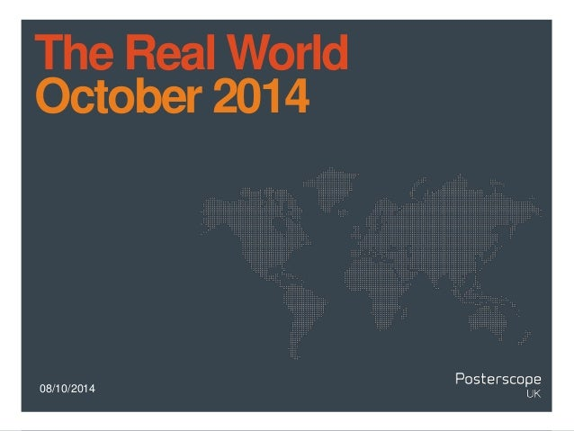 The Real World  October 2014  08/10/2014