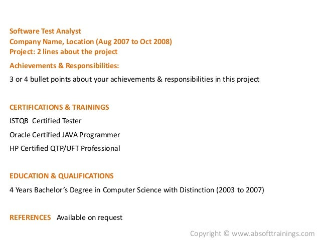 ... Bullet Points About Your Achievements U0026 Responsibilities In This  Project; 11.