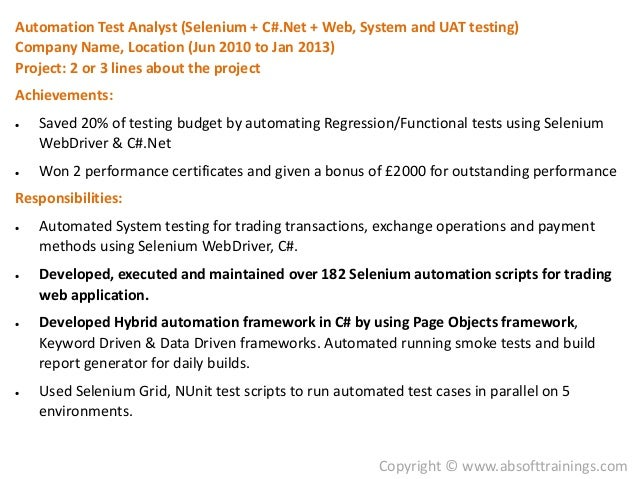 qtp tester sample resume proposal specialist sample resume ...