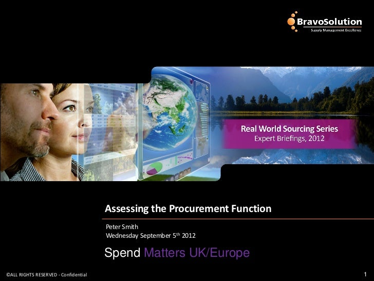 Assessing the Procurement Function                                      Peter Smith                                      W...