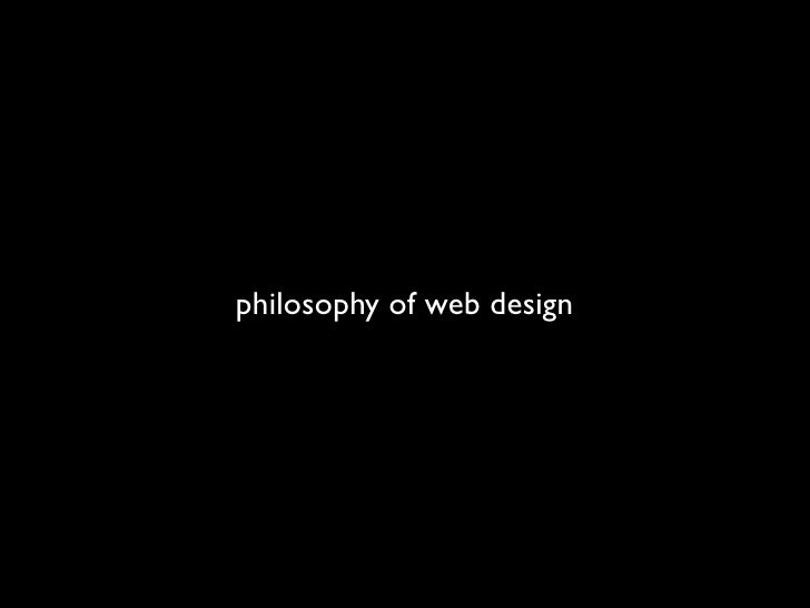 philosophy of web design