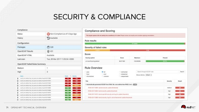OPENSHIFT TECHNICAL OVERVIEW71 SECURITY & COMPLIANCE