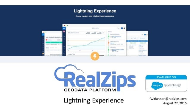 Lightning Experience fwidarsson@realzips.com August 22, 2015
