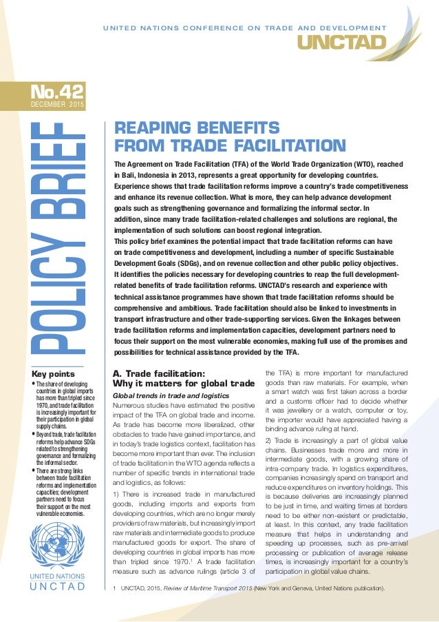 Reaping Benefits From Trade Facilitation Agreeements