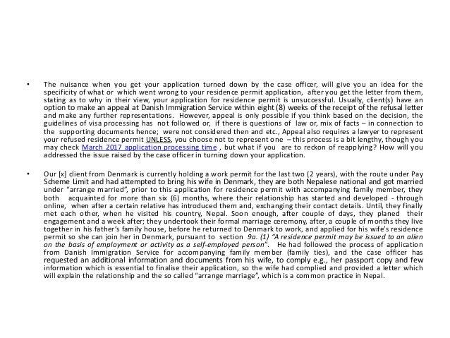Reapplication of Residence Permit in Denmark Slide 2