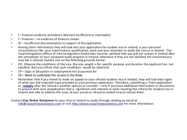 Reapply your Refused Student Visa  to Ireland Slide 3
