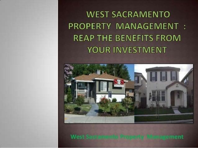 West Sacramento Property Management