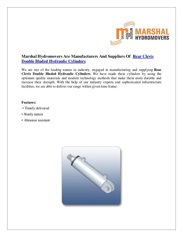 Rear Clevis Double Bladed Hydraulic Cylinders|Marshal