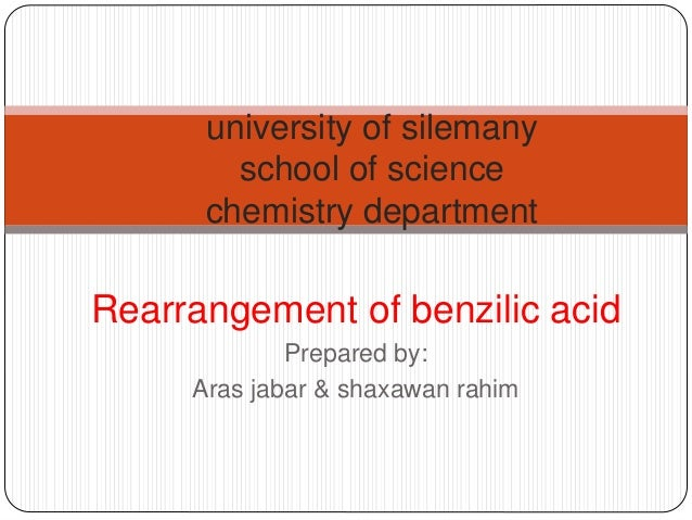 benzilic acid rearrangement We deal with the reaction mechanism and also a very important question towards the end of the video.