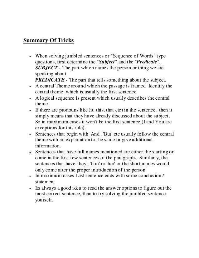 Rearrangement of sentences or paragraphs by das sir ,kolkata (0903887…