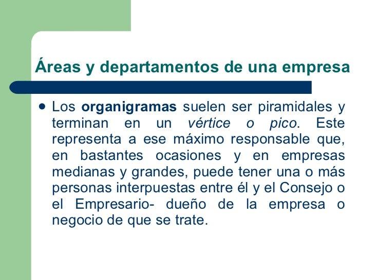 Reas y departamentos de una empresa for Actividades que se realizan en una oficina wikipedia