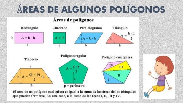 ÁREAS DE ALGUNOS POLÍGONOS