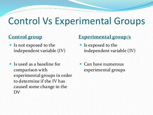 Random allocation  Every participant selected for the experiment has an equal chance of being selected for any of the gro...