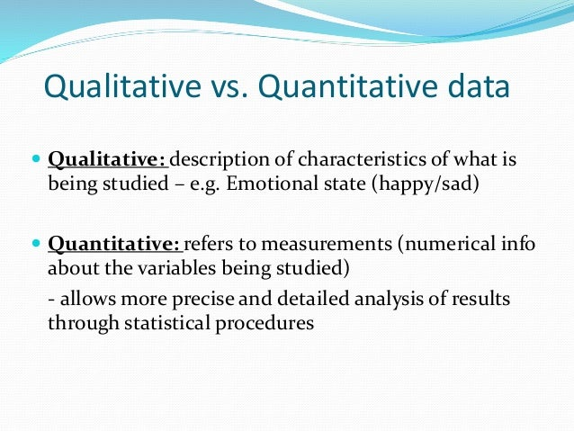 Objective vs. Subjective data Objective: information based on measurement of participant responses. - each person using an...