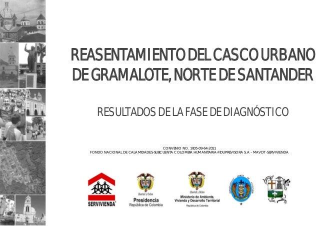 REASENTAMIENTO DEL CASCO URBANO DE GRAMALOTE, NORTE DE SANTANDER RESULTADOS DE LA FASE DE DIAGNÓSTICO CONVENIO NO. 1005-09...