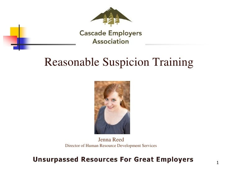 Reasonable suspicion training for supervisors online dating