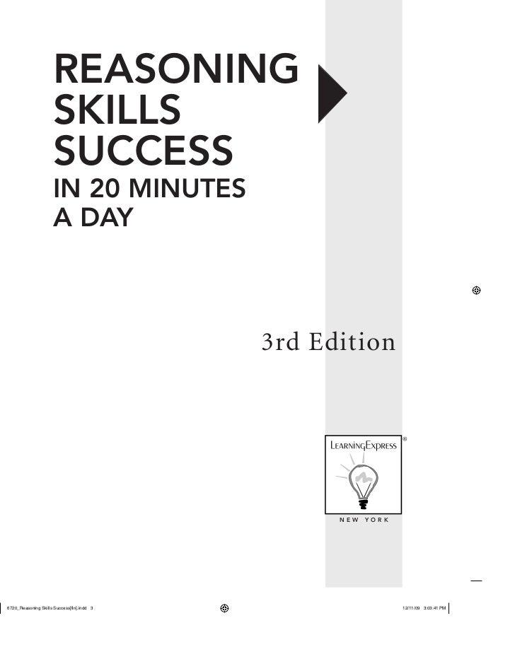 Reasoning skills success in 20 minutes a day mantesh