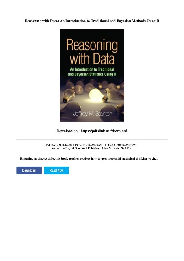reasoning with data an introduction to traditional and bayesian statistics using r